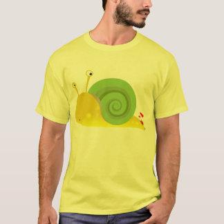 混同したかたつむりのTシャツ Tシャツ