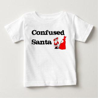 混同したサンタ ベビーTシャツ