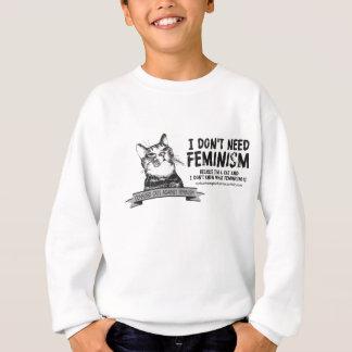 混同した猫(淡色のプロダクトのために) スウェットシャツ