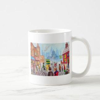 混雑した通り場面ペニーのfarthingの市街電車ゴードンブルース コーヒーマグカップ