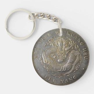 清王朝の硬貨両面のKeychain キーホルダー