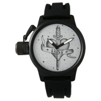 渇望の入れ墨のスタイルの腕時計 腕時計