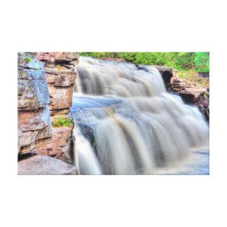 渓谷の滝、ミシガン州 キャンバスプリント