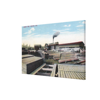 渓谷の製材製造所場面 キャンバスプリント