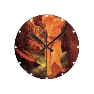 渓谷- Maxfield Parrish ラウンド壁時計