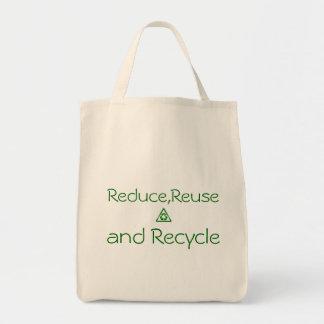 減らし、再使用し、そしてリサイクルして下さい トートバッグ