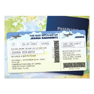 渡航文書のバーかバルミツワー 14 X 19.1 インビテーションカード