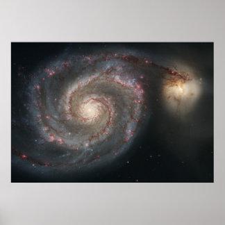 渦の銀河系および友達 ポスター