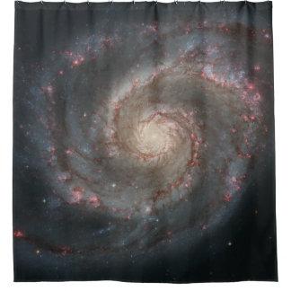 渦の銀河系のシャワー・カーテン シャワーカーテン