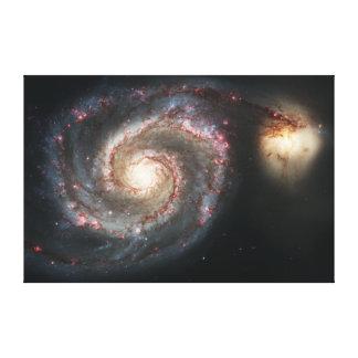 渦の銀河系よりきたない51a NGC 5194 キャンバスプリント