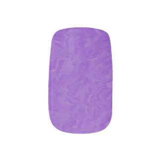 渦巻いた紫色の抽象デザインのネイルアートのステッカー ネイルアート