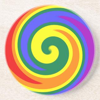 渦巻く虹のコースター コースター