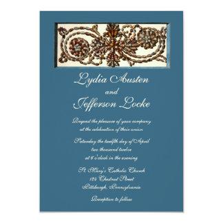 渦巻く貝の結婚式招待状 カード
