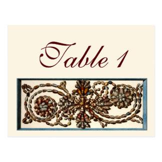 渦巻く貝の結婚披露宴のテーブル数 ポストカード