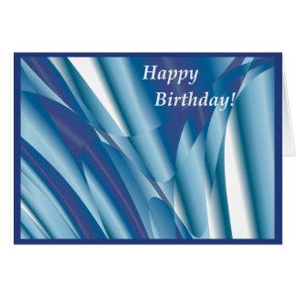 渦巻く青の抽象的なバースデー・カード カード