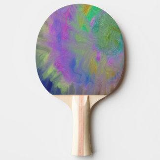 渦巻のカラフルな金属卓球ラケット 卓球ラケット