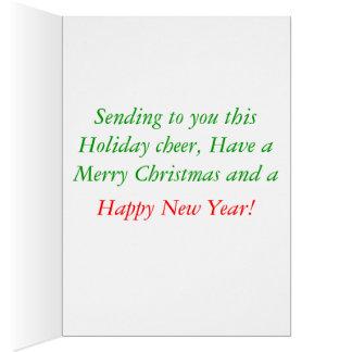 渦巻のスタイルのクリスマスカード カード