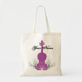 渦巻のバイオリンのトートのマゼンタ トートバッグ