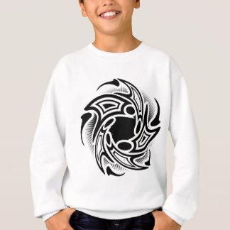 渦巻の種族の入れ墨のデザイン スウェットシャツ