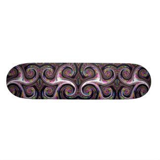 渦巻の稲妻のズームレンズのスケートボード スケートボード