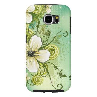 渦巻の美しい花はベクトル芸術を並べます SAMSUNG GALAXY S6 ケース