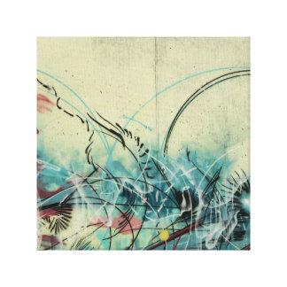 渦巻の落書きのバックラムの芸術 キャンバスプリント