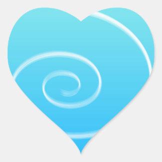 渦巻の青 ハートシール