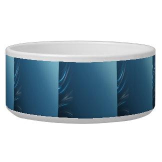 渦巻の青 犬用ごはん皿