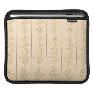 渦巻のiPadの袖のMacAirの茶色ベージュ黒い本 iPadスリーブ