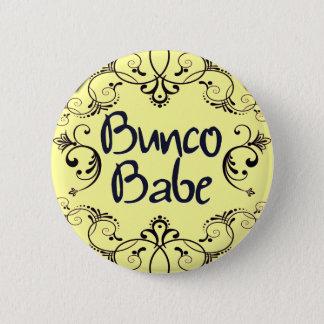 渦巻ボタンを持つBuncoの可愛い人 5.7cm 丸型バッジ