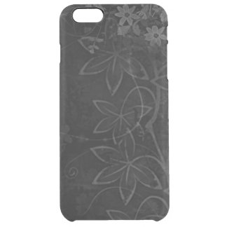 渦巻ラインが付いている黒い金属の花 クリア iPhone 6 PLUSケース