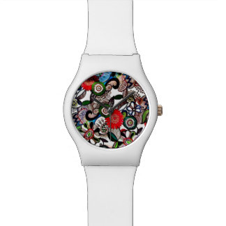 渦巻形のでファンキーな多彩の落書きの腕時計 腕時計