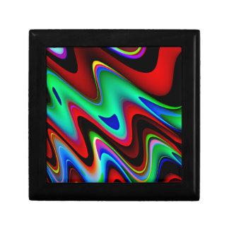渦巻形ので赤く黒い青の抽象芸術 ギフトボックス