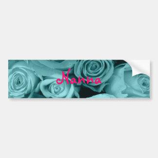 渦巻形のなばら色の花束 バンパーステッカー