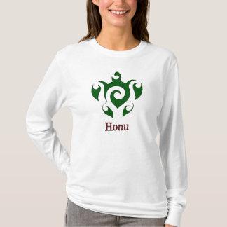 渦巻形のなハワイの緑のウミガメ Tシャツ