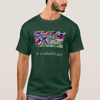 渦巻形のなモザイク Tシャツ