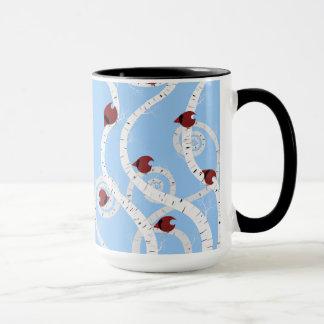 渦巻形のな樺の木 マグカップ