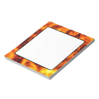 渦巻形のな炎 ノートパッド