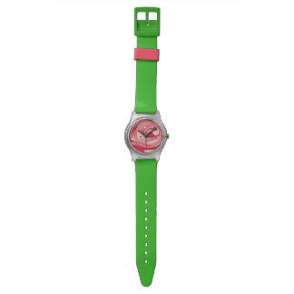 渦巻形のな緑の腕時計 腕時計