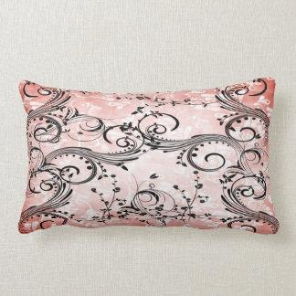 渦巻形のな花のつる植物のLumbarの枕 ランバークッション
