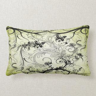 渦巻形のな葉のつる植物のLumbarの枕 ランバークッション