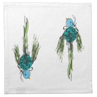 渦巻形のな鳥の布のナプキン ナプキンクロス