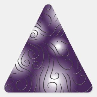 渦巻形の、紫色 三角形シール