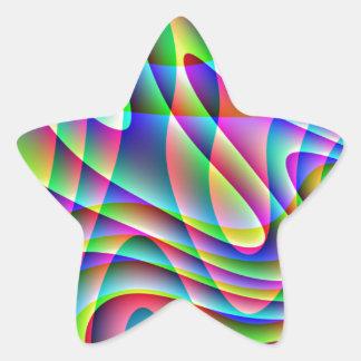 渦巻 星シール