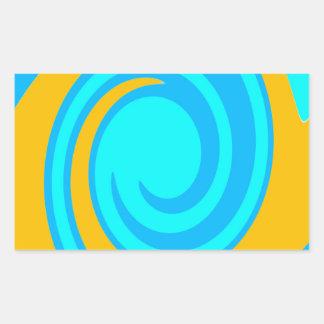 渦巻 長方形シール