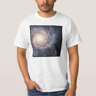渦状銀河のよりきたない74の白の価値Tシャツ Tシャツ