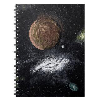 渦状銀河の隣り(宇宙のデザイン)の~ ノートブック