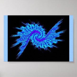 渦状銀河の青 ポスター
