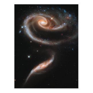 渦状銀河は上がりました ポストカード