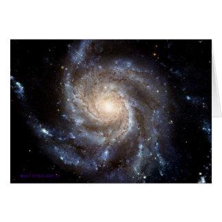 渦状銀河-中ブランク グリーティングカード